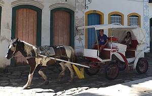 Horse carriage ride in Paraty